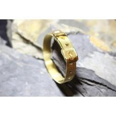 Pulseiras aço malha milanesa dourada