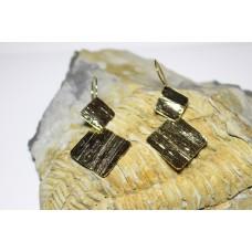 Brincos chapa geométricos revenidos Dourados
